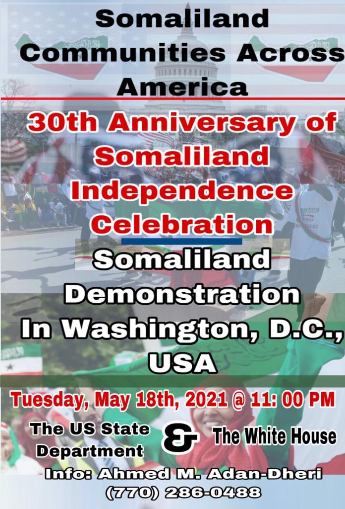 Xuska Xaflada 18 MAY Ee Washington DC Iyo Goobta Iyo Goorta La Qabanayo