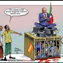 Farshaxanka Amin Arts oo Xaaladda Somaliland ku muujiyay Sawir Cajiib ah