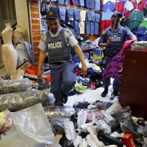 South Africa Destroys Seized Illicitly Imported Clothes at Peak Shopping Season